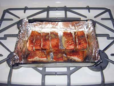 Quick and easy broiled salmon healthy recipes 360 broil on high for about 10 minutes cooking time will vary according to the thickness of the salmon folding the foil over to completely enclose the salmon ccuart Choice Image